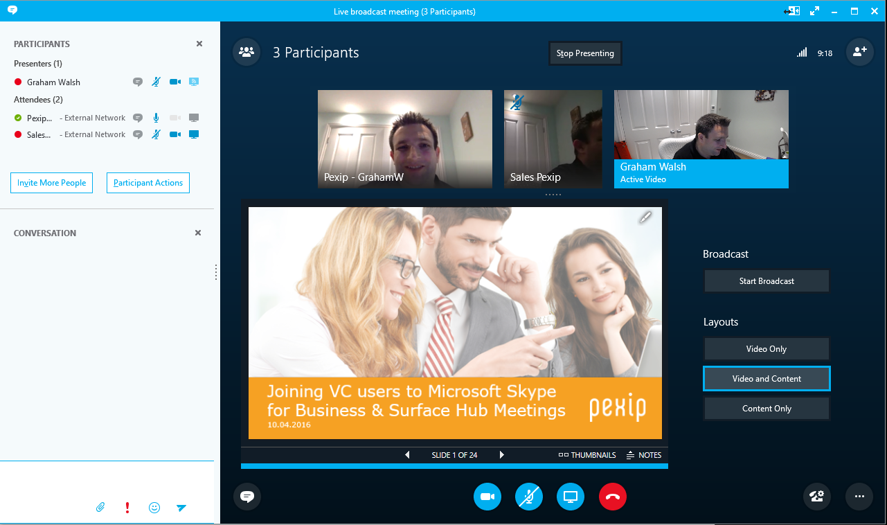 Skype For Business Meeting Room Client