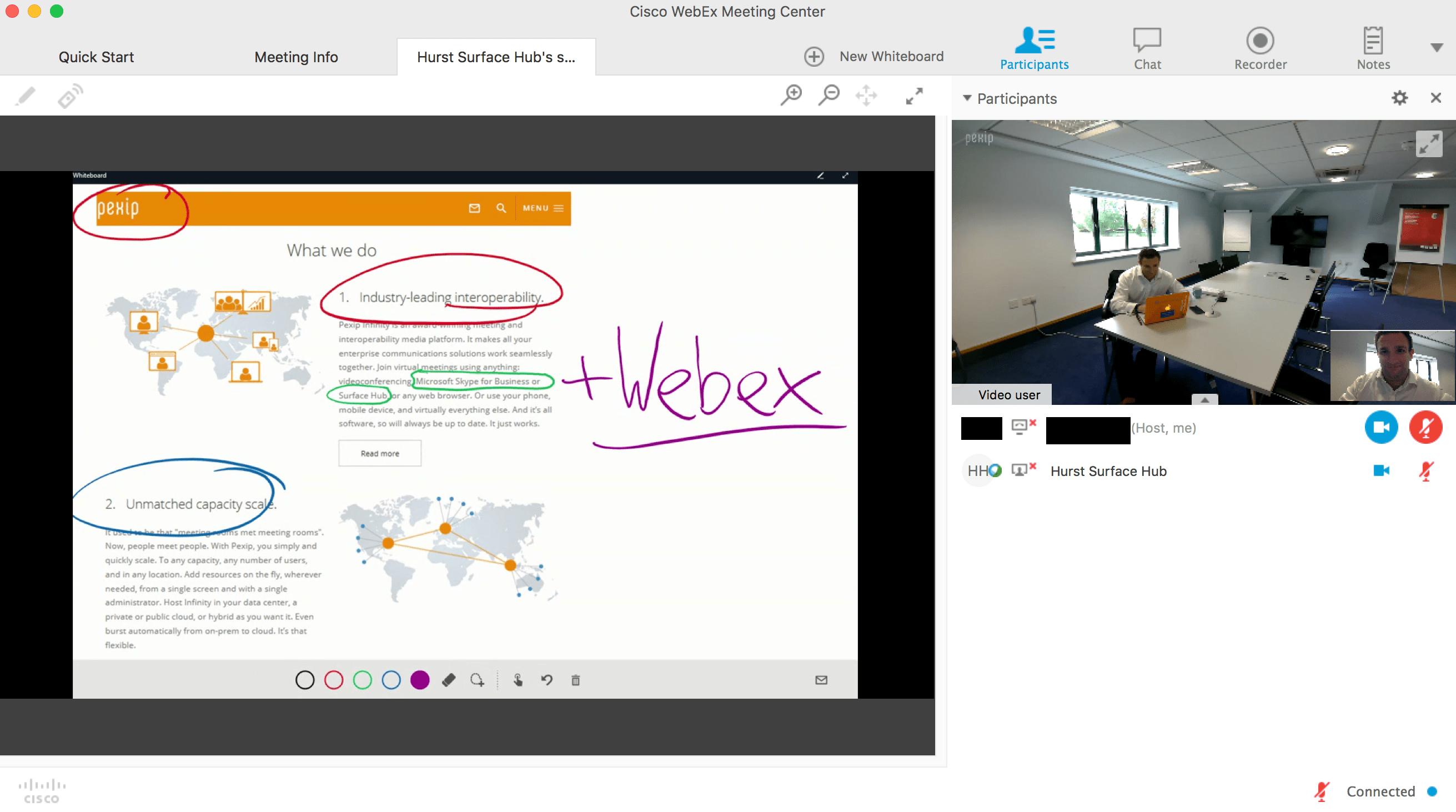 pexip-webex-sharing