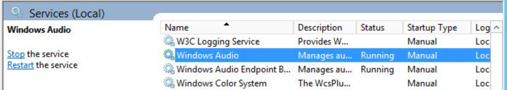 Windows Audio Services