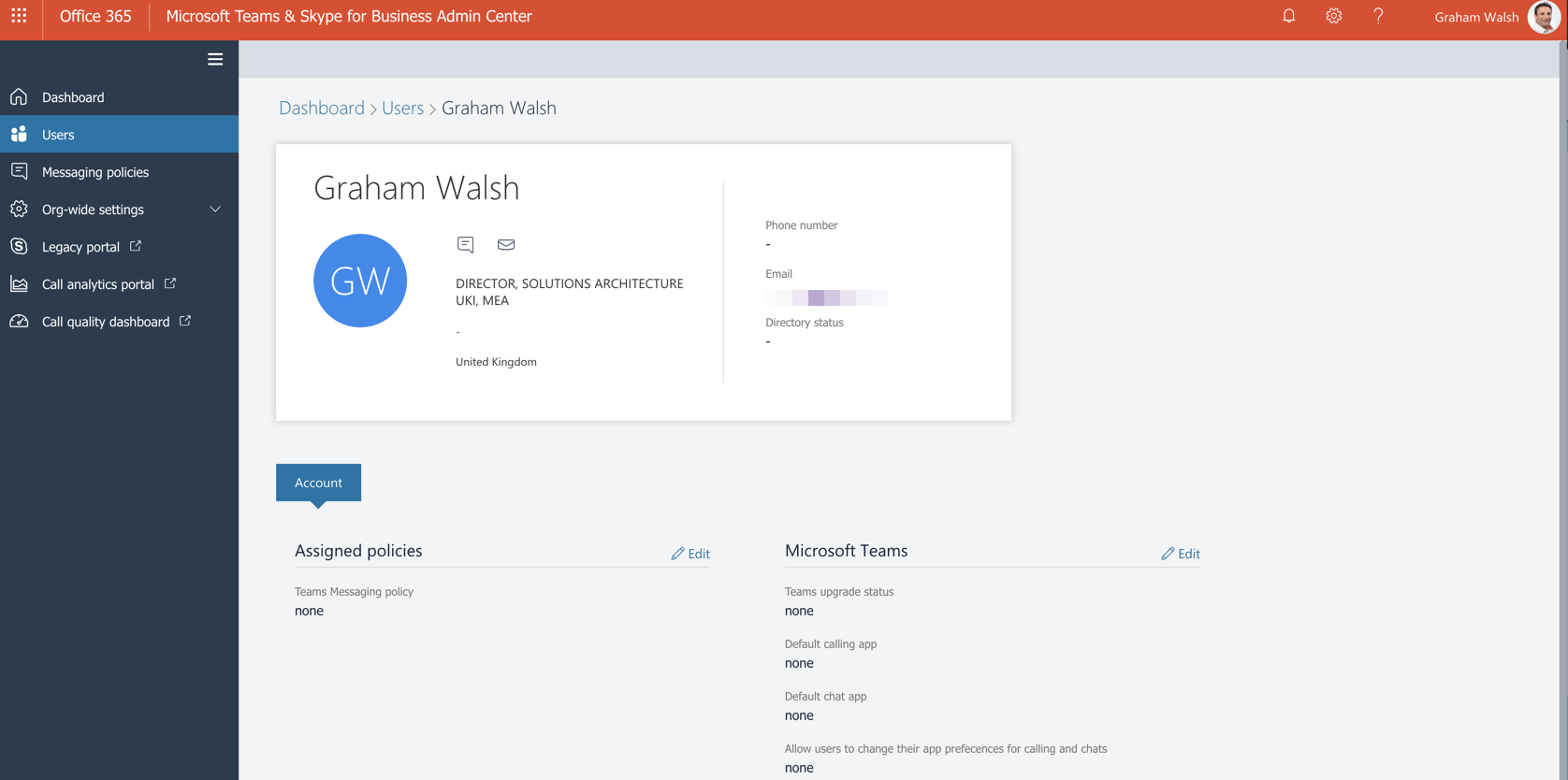 New Microsoft Teams & Skype for Business Admin Center