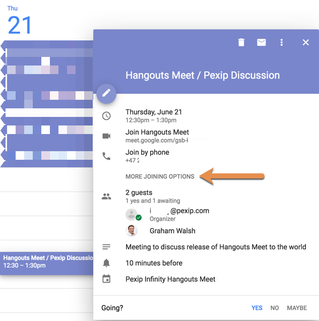 Setting up Hangouts Meet integration with Pexip Infinity