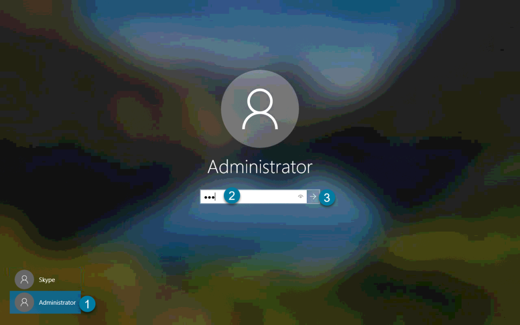 Windows Admin Sign-in