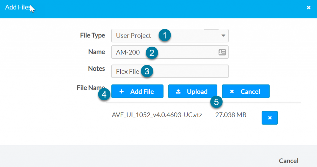Uploading the file to XIO