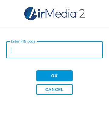 Enter the PIN Code