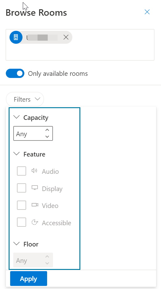 Outlook Web Access Room Filter Feature