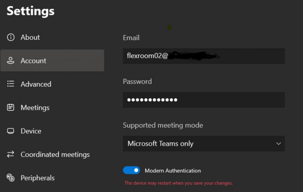 Mode Équipes de la salle Microsoft Teams uniquement